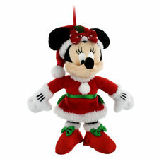 DISNEY PARKS PLUSH ORNAMENT MINNIE MOUSE MRS SANTA CLAUS HOLIDAY CHRISTMAS NWT
