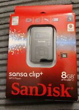 SanDisk Sansa Clip Plus 8GB MP3 Player Recorder FM Radio RETAIL SEALED