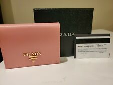 New Prada Classic Light Pink Womens Wallet Vitello Move 1MV204 Petalo