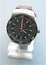 NEW NAUTICA MEN'S NST 16 MULTIFUNCTION STAINLESS WATCH N18680G