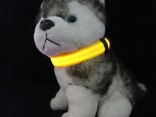 Yellow Pets Dog Cat LED Light Flash Night Safety Collar Leash Adjustable L Code