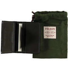 Filson Showroom Sample - Bridle Leather Cash & Card Case Moss