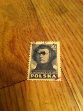 POLSKA 20ZL A Mickiewicz 1798-1855 Cancelled vintage used  Polish Poland stamp