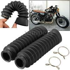 Motorcycle Black Rubber Front Fork Cover Protector Gaiters Boots For Kawasaki