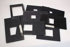 NEGATIVE CARRIERS, LARGE LOT, 4X5, 2 1/4 X 2 3/4, 35MM AND 2 1/4 X 2 1/4