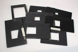 NEGATIVE CARRIERS, LOT OF 7