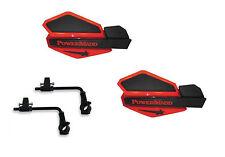 Powermadd Star Series Handguards Guards Tri Mount Red / Black ATV Can Am