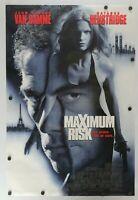 "Maximum Risk 1996 Double Sided Original Movie Poster 27"" x 40"""