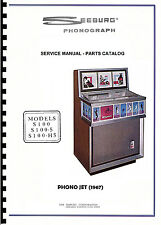MANUALE COMPLETO  (manual) JUKEBOX SEEBURG S 100 ES 100 PHONO JET (juke box)