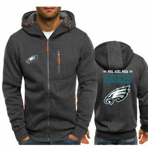 Philadelphia eagles Fans Hoodie Warm Jacket Sporty Sweatshirt Coat Autumn Tops