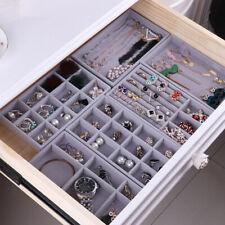 Velvet Jewelry Display Holder Neckalce Bracelet Earring Storage Organizersh