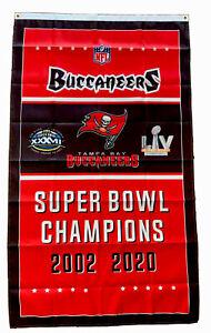 Tampa Bay Buccaneers NFL Super Bowl Championship Flag 3x5 ft Banner Man-Cave