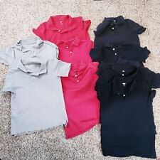 Lot of Boys 7/8 Uniform Polos Old Navy and Children's Place youth M black red gr