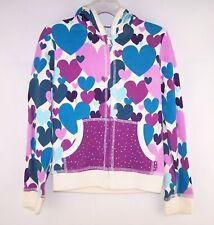 Girls CHILDREN'S PLACE purple teal heart jacket 5 6 hoodie hooded sweatshirt