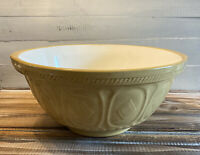 """Vintage Ceramic Mixing Bowl T.G Green Co of Gresley England Mustard Yellow 14"""""""