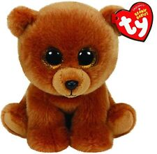 "TY Beanie Babies Brownie Bear Stuffed Collectible Plush Toy 6"" NEW"