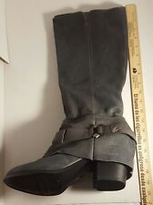 FERGIE Distressed Gray Suede Boots Women's Size 11