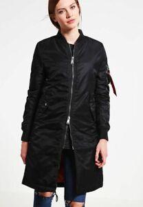 Alpha Industries MA-1 Coat Rib Jacket Women's Black Activewear Casual Outwear