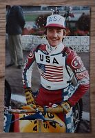 Original 1980s Speedway Photograph - Shawn Moran Tigers,Vikings,Aces,USA.....