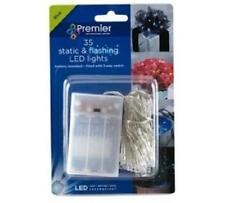 Premier 35 Battery Operated Static & Flashing LED Lights Blue LB111049B