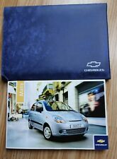 GENUINE CHEVROLET MATIZ HANDBOOK OWNERS MANUAL WALLET 2005-2010 ref M-244