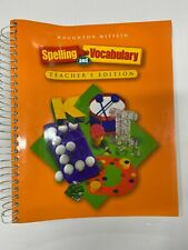 Houghton Mifflin SPELLING AND VOCABULARY Teacher Edition GRADE 2 - 2nd Grade