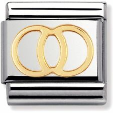 BRAND NEW GENUINE Nomination Classic Gold Wedding Rings Charm 030109 21