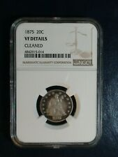 1875 Twenty Cent Piece NGC VF 20C SILVER Coin PRICED TO SELL NOW!