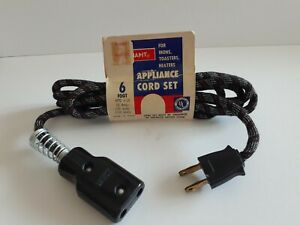 Snapit Appliance Cord, 1950s, NOS, 6ft. Irons/Toasters/Heaters. 10Amp 125v 1250w
