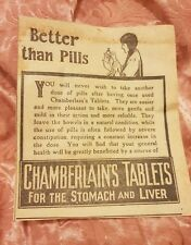 Chamberlain's Tablets - 1922 Advertisement