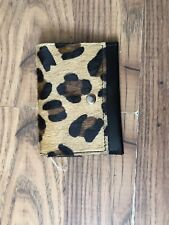 Urban Outfitters Black / Aninal Print Leather Card Holder / Coin Purse