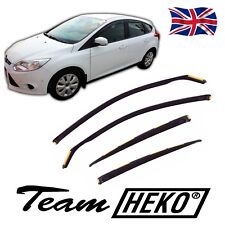 FORD FOCUS mk3 hatchback saloon 2011-2018 WIND DEFLECTORS 4pc HEKO TINTED