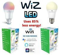 Wiz LED GLS Smart Bulbs 8w = 60w 9W = 60W WATT BC B22 ES E27 Alexa Google Wifi