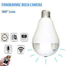 Hidden Wireless Security Camera 1280P HD DVR Light Bulb Infrared Night Vision