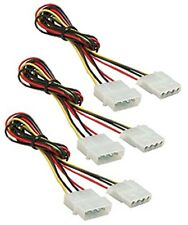 3x 2Ft 4 Pin Molex Male to 4Pin Molex Female Power Supply Extension Cable