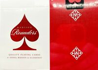 NEW SEALED Madison Scarlet Red Rounders Playing Cards Deck Ellusionist Magic