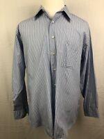 BCBG Attitude Striped Up Dress Shirt Size X Large 17 34/35 Mens Long Sleeve