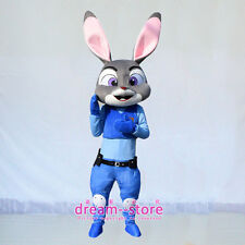【SALE】NEW JUDY HOPPS RABBIT ZOOTOPIA MASCOT COSTUME ADULT SIZE PARTY DRESS