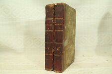 lot 2 volume set antique old leather books The Antiquary 1820 Gothic Novel