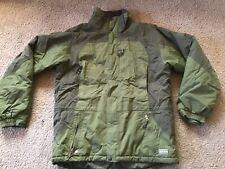 LL Bean men's Medium Primaloft Ski Parka Jacket, Two tone Green