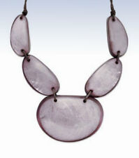 Style&Co Grey/Lavender Resin SHELL Statement Collar NECKLACE