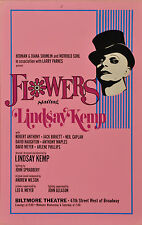 FLOWERS BROADWAY WINDOW CARD - LINDSAY KEMP, ROBERT ANTHONY