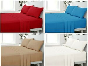180 Thread Count 100% Pure Percale Cotton Flat Sheets