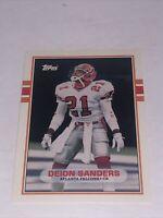 Deion Sanders 1989 Topps #30T Traded SP Atlanta Falcons ROOKIE RC Football Card