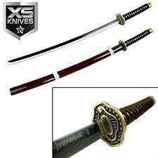 "40"" Carbon Steel Katana Blood Red Collectible Samurai Sword W/ Blood Red Sheath"