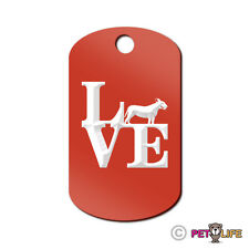 Love Bull Terrier Engraved Keychain GI Tag dog park bully pit bull