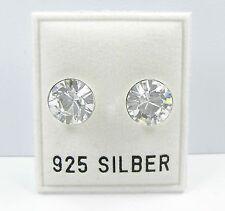 NEU 925 Silber OHRSTECKER 8mm SWAROVSKI STEINE kristallklar/crystal OHRRINGE
