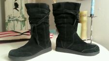 ALDO Suede Black Winter Slouched Wrinkled Boots Sz 40/9.5
