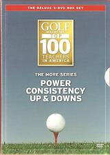THE MORE SERIES - POWER CONSISTENCY UP & DOWNS - GOLF - THE DELUXE 3 DVD BOX SET