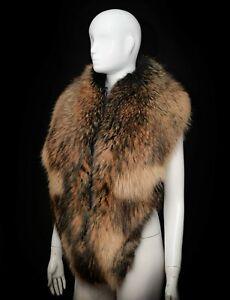 Massive Essential Finn Raccoon Handmade Men's Wrap Collar Scarf Stole Boa